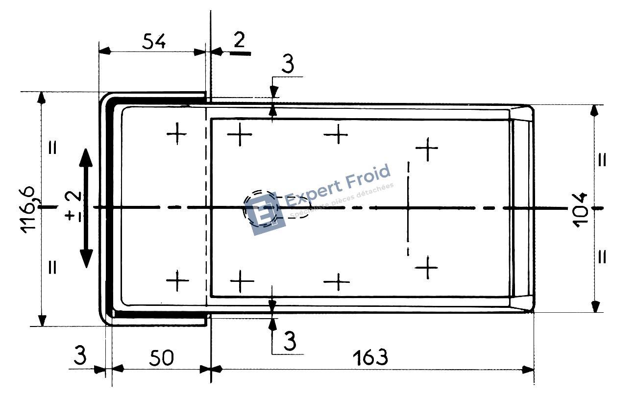 Fermeture automatique fermod 620 poign e fermod 620 - Fermeture porte chambre froide ...
