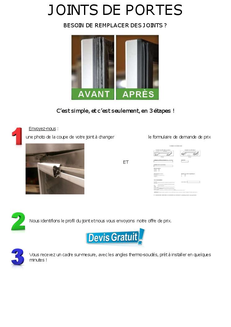 Joints de frigo et de chambres froides - Joint de frigo universel ...